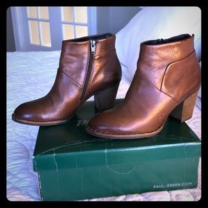 Paul Green Stella stud saddle leather booties